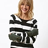 We love the military-inspired metal button trim on these evergreen-hued gloves. Pieces Fingerless Military Gloves ($11)