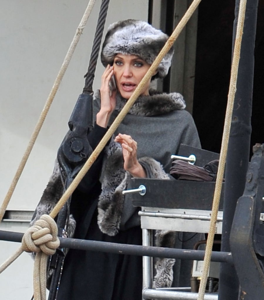 Photos of Angelina Jolie Filming Salt in New York City