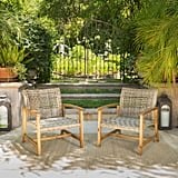 Hampton Wicker Midcentury Club Chairs