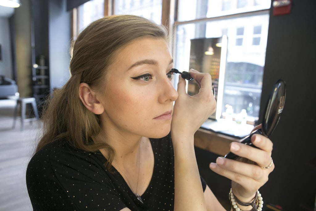 Once both lids are complete, finish off your look with a hint of mascara and a touch of lip gloss.
