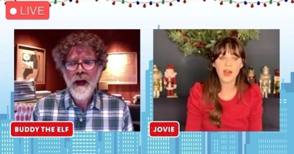 Watch Zooey Deschanel and Will Ferrell Reenact Their Iconic Bathroom Duet From Elf