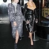 Gigi Hadid Wearing Gray Turtleneck With Chanel Dress