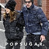 Justin and Jessica braved the NYC snow in February 2010.