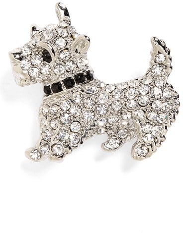 Cara Crystal Scottie Dog Pin ($18)