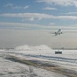 Let's hope this plane is leaving JFK for somewhere sunny.   Source: Instagram user panynj