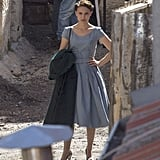 Natalie Portman filmed in Jerusalem on Thursday. She will both star in and direct the project, titled A Tale of Love and Darkness.