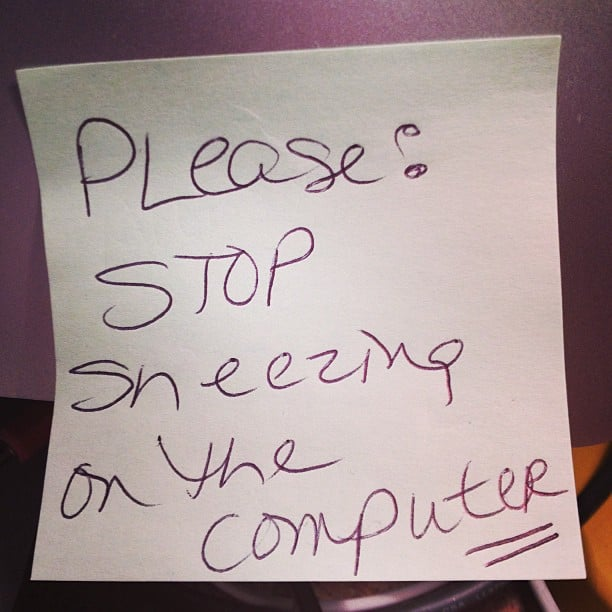 Stop With the Sneezing on Her MacBook!