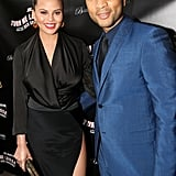 They posed together at the opening night event for Turn Me Loose at the Westside Theatre in NYC.