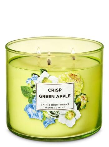 Bath & Body Works Crisp Green Apple 3-Wick Candle