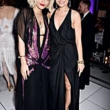 Rita Ora and Jessie J both wore slinky dresses to Harvey's afterparty.