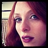 Karen Elson wasn't messing around when it came to her Met Gala beauty look. Source: Instagram user misskarennelson