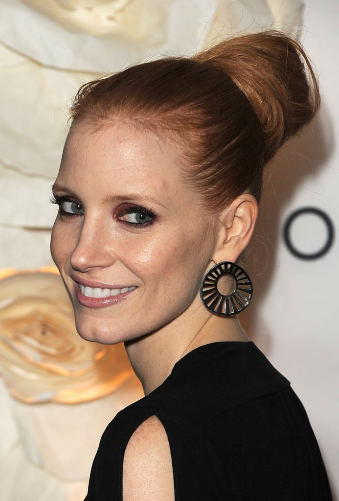 Jessica Chastain With Updo in 2011