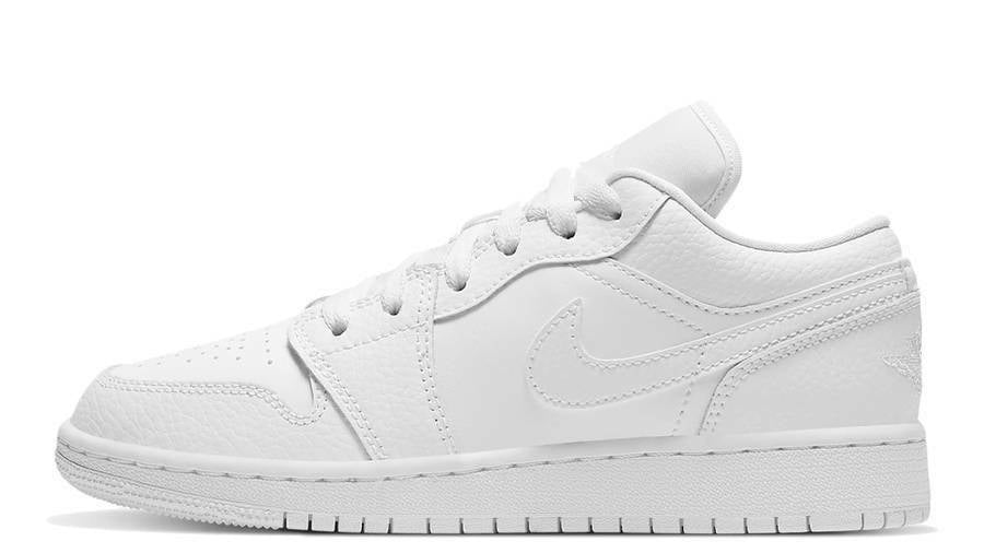 Nike Jordan 1 Low Triple White Sneakers