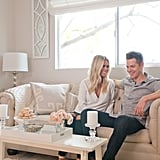 This tufted sofa hails back to Lauren's first apartment. Instead of splurging on a new sofa, she brought it with her to LA because the neutral color made it a perfect fit for her and Jason's newlywed home.