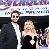 Miley Cyrus and Liam Hemsworth at Avengers Endgame Premiere