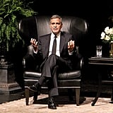 George Clooney sat down for an interview in Houston.
