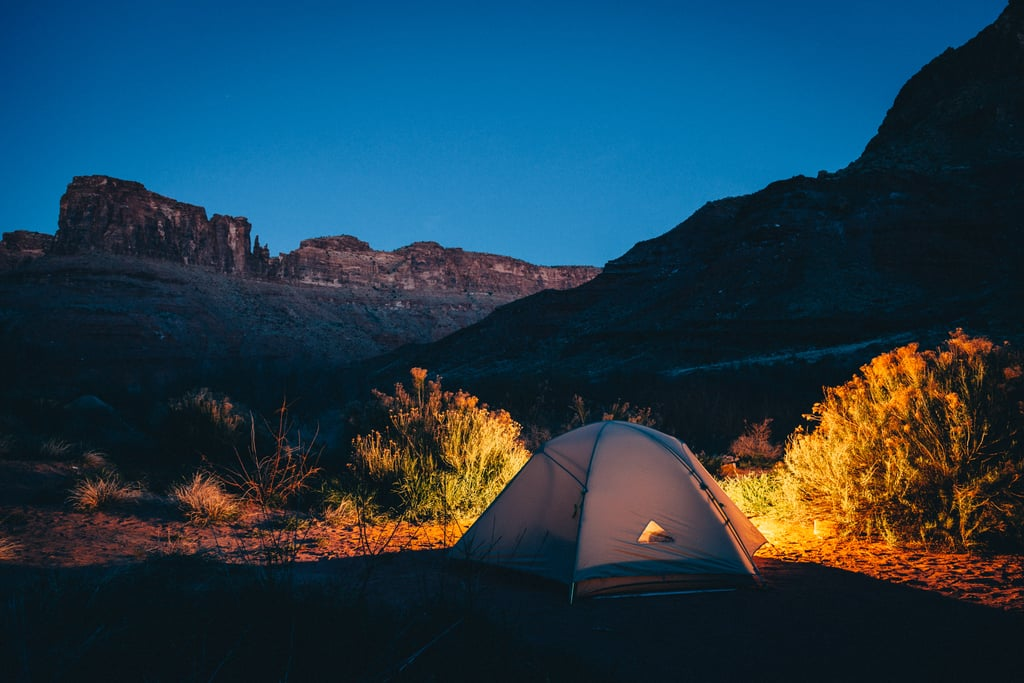 It's the best time for camping . . . even if things are stressful, being alone without distractions is a great way to reconnect.