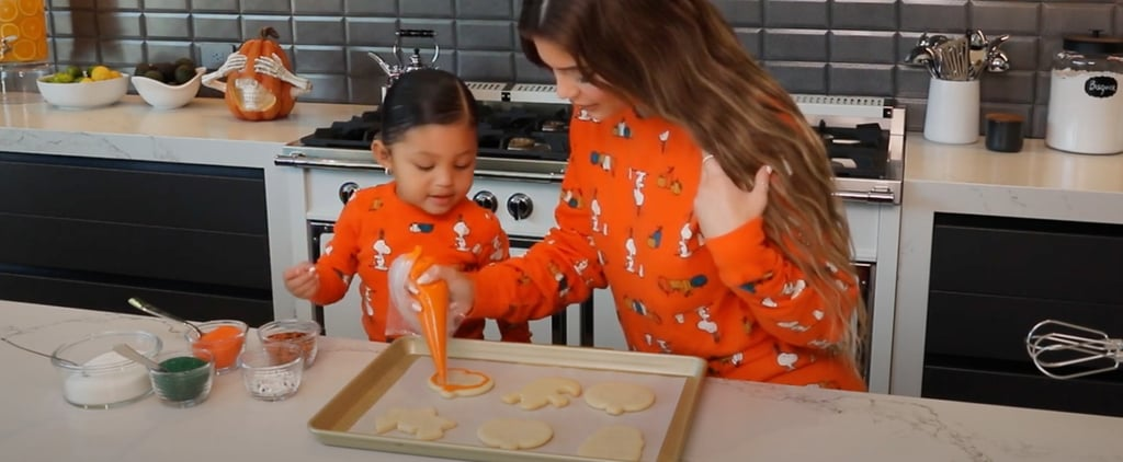 Kylie Jenner and Stormi Bake Halloween Cookies | Video