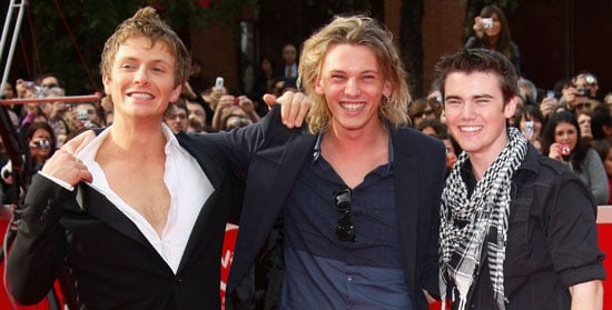 Photos of Jamie Campbell Bower, Charlie Bewley and Cameron Bright at Rome Film Festival 2009 For Twilight Movie New Moon