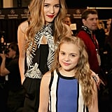 Singers and Nashville stars Lennon and Maisy Stella posed together at the Nicole Miller show.