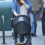 Miranda Kerr has the model off-duty look down pat, and we love the way she wore her wide-brimmed hat with a sweater and denim button-down.