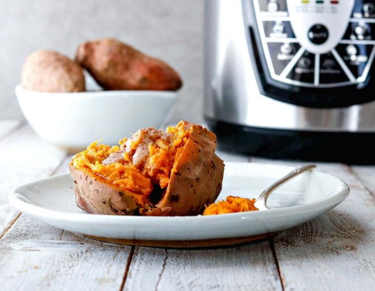 20-Minute Instant Pot Sweet Potatoes Smothered in Buttery Maple Ghee