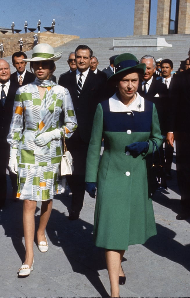 Princess Anne in Turkey With Her Mother in October 1971