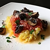 Spaghetti Squash with Tomato Sauce and Mushrooms