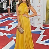 Zoe Hardman went for yellow Sophia Koh.