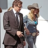 Cameron Diaz Pictures Shooting Gambit in London