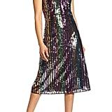 Halogen x Atlantic-Pacific Sequin Stripe Shift Dress