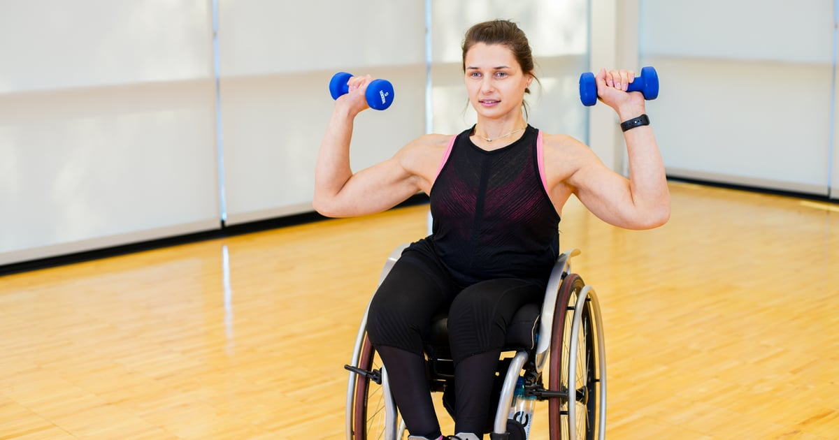 This 10-Minute High-Intensity Workout For People in a Wheelchair Uses Light Dumbbells