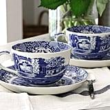 Blue Italian Jumbo Cup and Saucer ($27)
