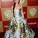 Lucy Liu wore Carolina Herrera.