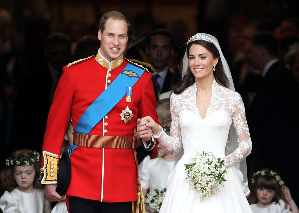 Prince William and Kate Middleton were married in a beautiful ceremony at Westminster Abbey in London on April 29, 2011. There were so many picture-perfect moments — we loved the star-studded guest list, the bride's gorgeous McQueen gown, the carriage processional, and, best of all, the balcony kisses! Read through to see all the best highlights from the royal wedding. Related: The 1 Change Prince William and Kate Middleton Made to Their Wedding Vows