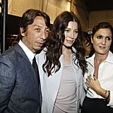 Jessica Biel attends Paris Fashion Week.