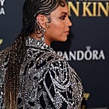 Beyoncé's Braided Finger Waves at The Lion King Premiere