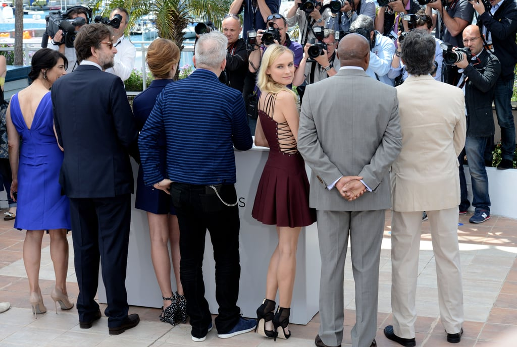 Diane Kruger turned for a photo among other jurors at the Cannes Film Festival.