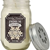 White Christmas Mason Jar Candle