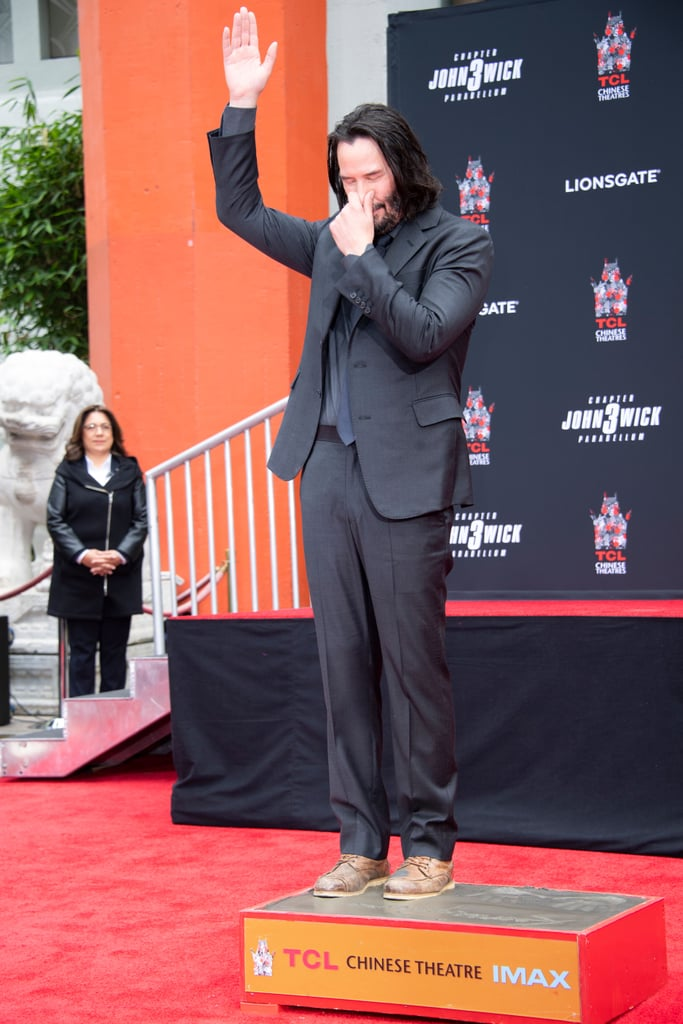 Keanu Reeves Handprint Ceremony in Hollywood May 2019