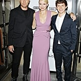 Ewan McGregor, Naomi Watts, and Tom Holland posed together.