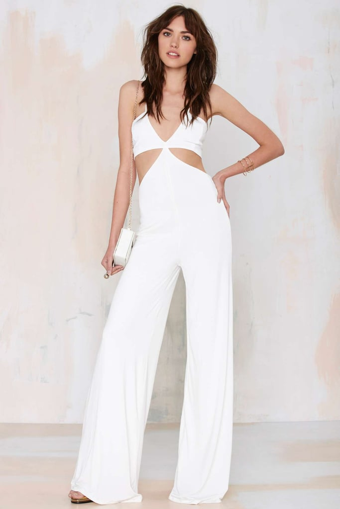 We can totally see how Nasty Gal could get confused. The Frisco Inferno Knit Cutout Jumpsuit is nearly identical. Read on to shop items similar to this.