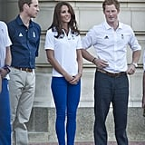 The Royals were in official Adidas Team GB apparel.