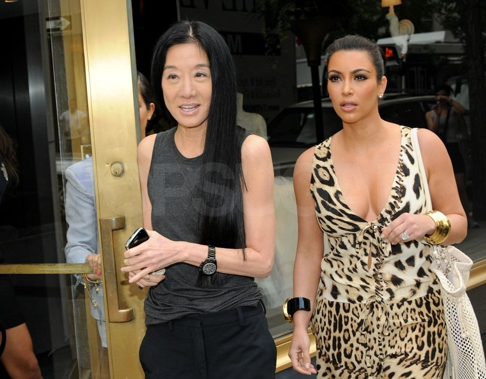 Vera Wang met up with Kim Kardashian for lunch.