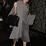 Angelina Jolie Gray Scarf April 2016