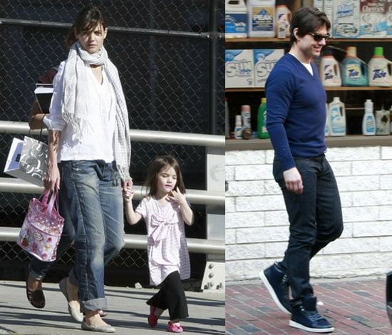 Photos of Tom Cruise, Katie Holmes, Suri Cruise, Connor Cruise Shopping in Boston