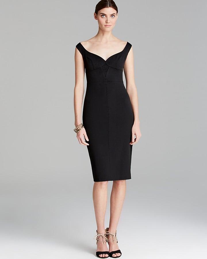 Black Halo off-the-shoulder sweetheart-neckline Ally dress ($345)