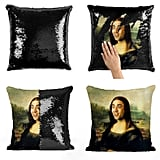Nicolas Cage Mona Lisa Sequin Pillow