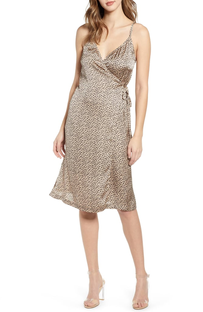 beb76ddbacc Leith Everyday Satin Wrap Dress | Best Leopard Print Dresses 2019 ...