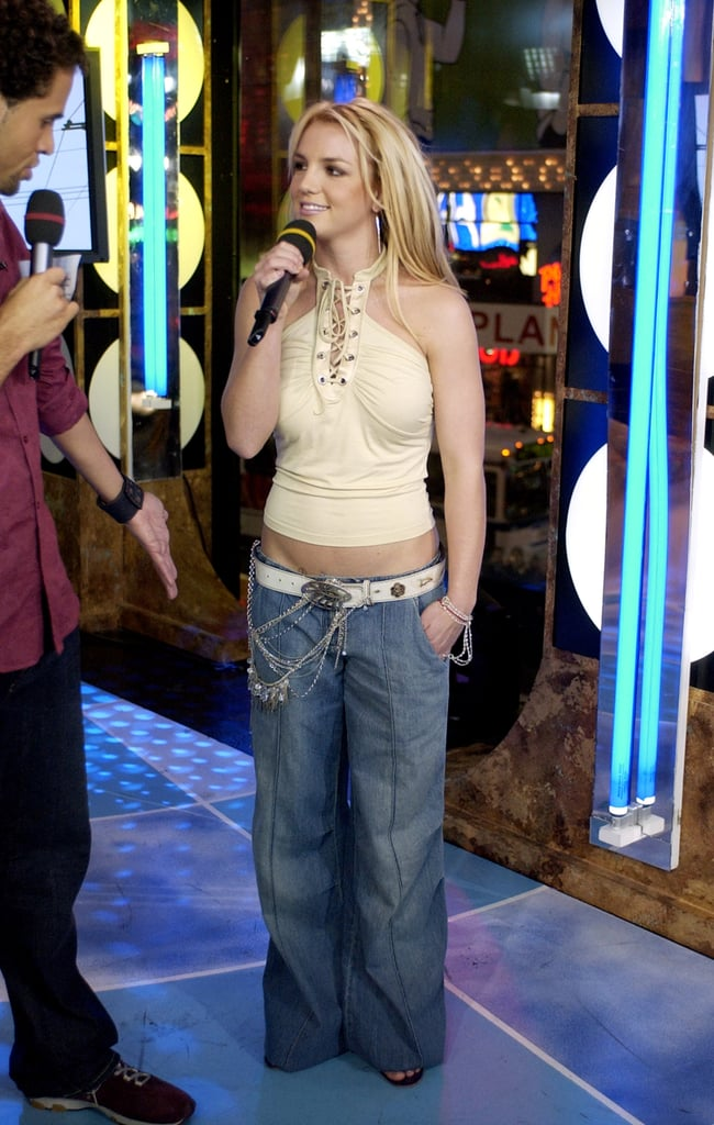Britney Spears rocked some (really) wide-leg jeans on the show in ...